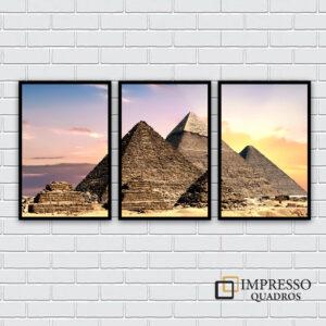 Pirâmide do Egito – Kit com 03 Quadros