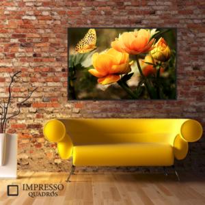 Flor Amarela e Borboleta 01