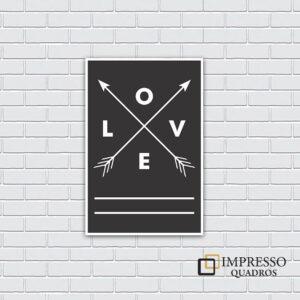 Love Flechas Preto 01