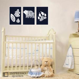 Bear Kid – Kit com 03 Quadros
