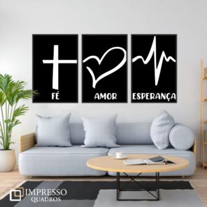 Fé Esperança Amor – Preto